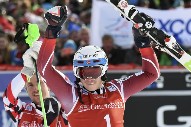 Henrik Kristoffersen... (PHOTO PHILIPPE DESMAZES, AFP)