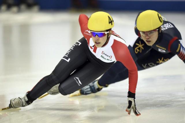 Valérie Maltais s'est classée au deuxième lors du... (PHOTO JOHANNES EISELE, AFP)