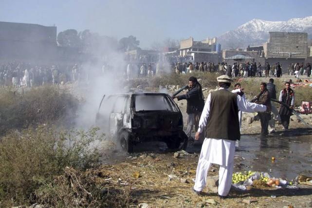 Les 22 victimes étaient issues de la minorité... (PHOTO M SAQLAIN, AFP)