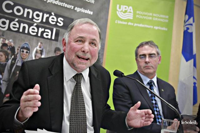 Le ministre de l'Agriculture Pierre Paradis et Marcel... (Le Soleil)