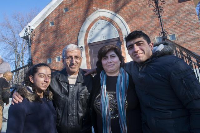 La famille Danho, d'origine syrienne, est arrivée à... (Spectre Média, Julien Chamberland)