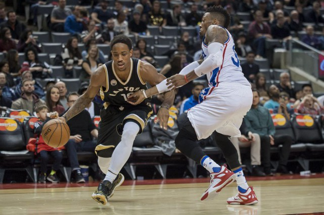 DeMar DeRozan a inscrit 25 points et huit rebonds et les Raptors de Toronto ont... (Photo USA Today Sports)