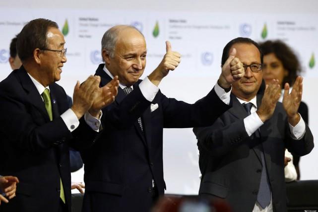 Le président de la Conférence de Paris, Laurent... (AP)