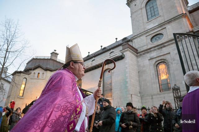 Le cardinal Gérald Cyprien Lacroix a célébré la... (Le Soleil, Yan Doublet)