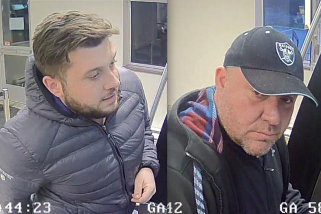 Les deux suspects recherchés par la police de... (Courtoisie SPVG)