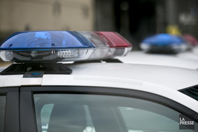Les policiers de la Sûreté du Québec (SQ) du poste de la MRC d'Arthabaska ont... (Archives La Presse)