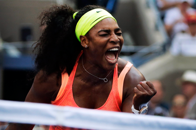 En 2015, Serena Williams est venue à deux victoires... (Photo Charles Krupa, archives AP)
