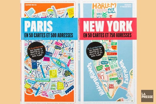 Paris en 50 cartes et 500 adressesetNew York... (PHOTOS EDOUARD PLANTE-FRÉCHETTE, LA PRESSE)