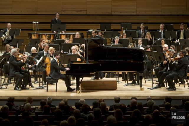 Les musiciens de l'Orchestre symphonique de Québec lors... (PHOTO ROBERT SKINNER, ARCHIVES LA PRESSE)