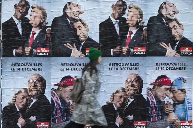 Des affiches parisiennes annonçant le retour de l'émission,... (Photo AFP)