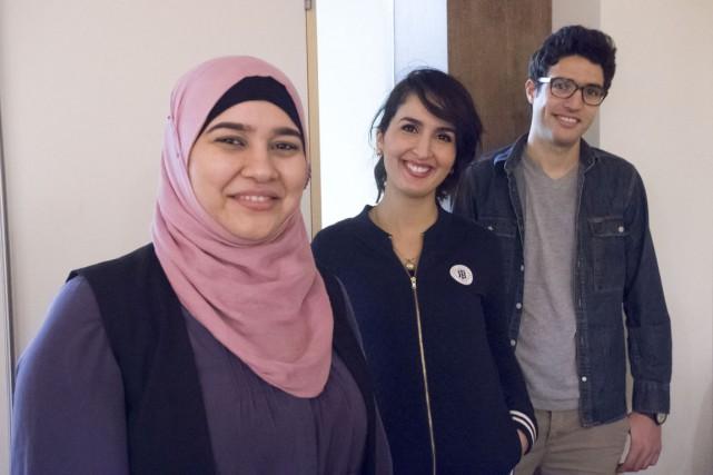 De gauche à droite, Imeme Khellaf, Ichrak Lakhdhar... (Stéphane Lessard)