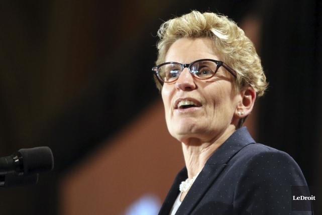 La première ministre de l'Ontario, Kathleen Wynne.... (Photo Patrick Woodbury, Archives LeDroit)