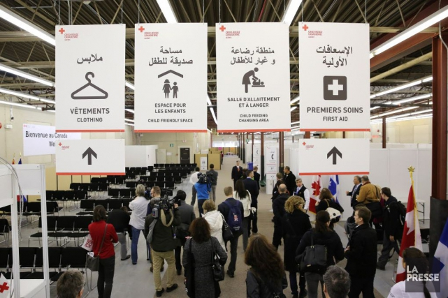 Huit mois après leur arrivée à Montréal, les réfugiés syriens Dania Saad et son... (Photo Archives La Presse)