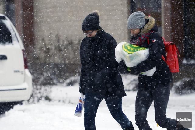 La première vraie tempête de neige a eu... (Photo Le Quotidien, Jeannot Lévesque)