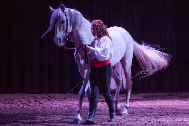 Le spectacle équestreNoël sera présenté à la ferme... (Archives, Olivier Croteau)