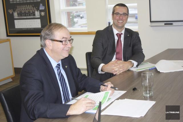 Le maire intérimaire de Victoriaville, Christian Lettre, en... (La Tribune, Yanick Poisson)