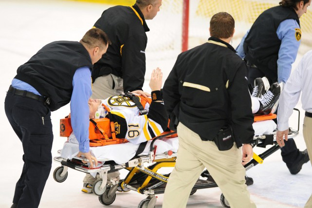 Marc Savard, 38 ans, n'a pas joué un... (Photo d'archives Associated Press)
