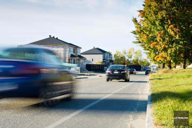 La vitesse dans les rues de Sherbrooke a... (Archives, La Tribune)