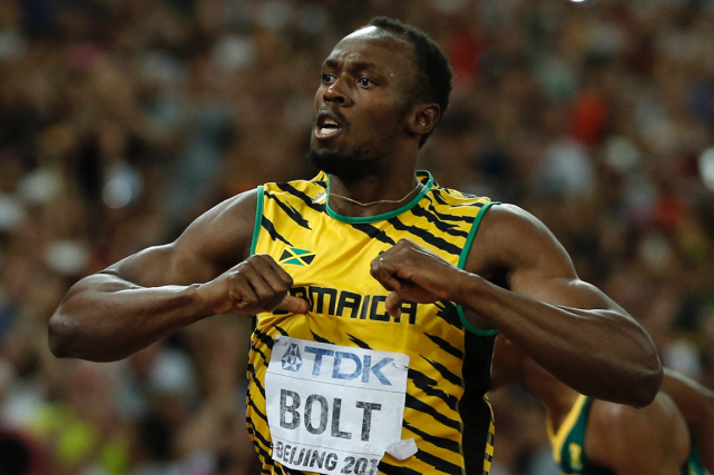 Usain Bolt... (Photo Adrian Dennis, AFP)