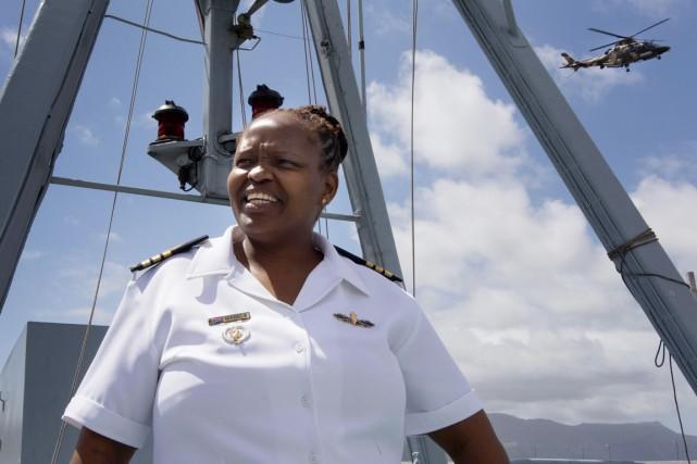 Le navire que Zimasa Mabela commande depuis août... (PHOTO RODGER BOSCH, ARCHIVES AFP)