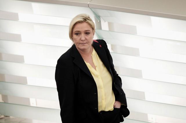 Marine Le Pen était jugée pour la première... (PHOTO FRÉDÉRICK FLORIN, AFP)