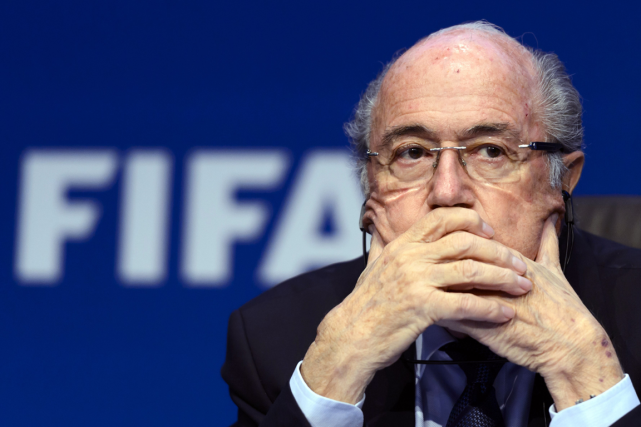 Le président suspendu de la FIFA, Sepp Blatter.... (Photo Fabrice Coffrini, archives AFP)