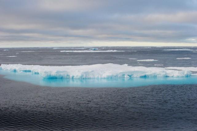 «L'Arctique se réchauffe deux fois plus rapidement que... (PHOTO CLÉMENT SABOURIN, ARCHIVES AFP)