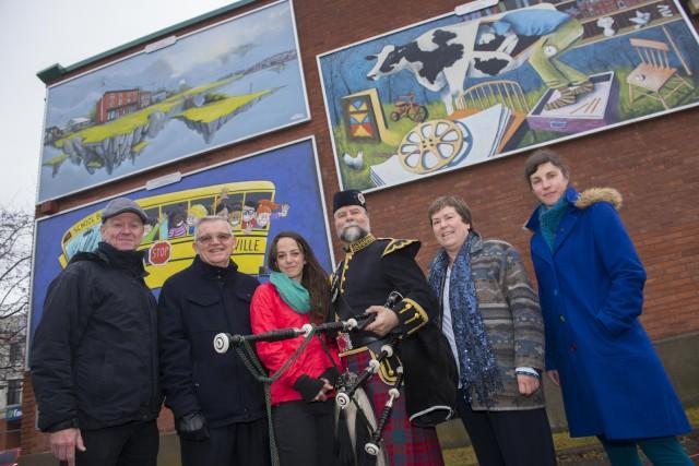 Le parcours de murales de Lennoxville a été... (Spectre Média, Julien Chamberland)