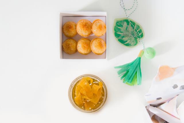 Écorces de citron confites etfinanciers au citron et... (PHOTO EDOUARD PLANTE-FRÉCHETTE, LA PRESSE)