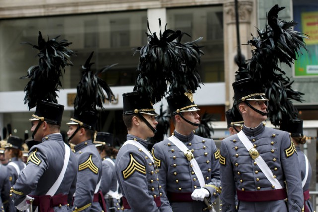 Des cadets de West Point lors de la Journée... (PHOTO REUTERS)