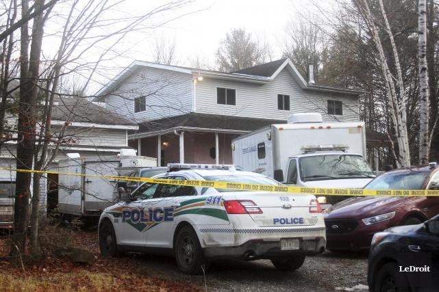 Les policiers de la MRC des Collines-de-l'Outaouais ont... (Etienne Ranger, LeDroit)