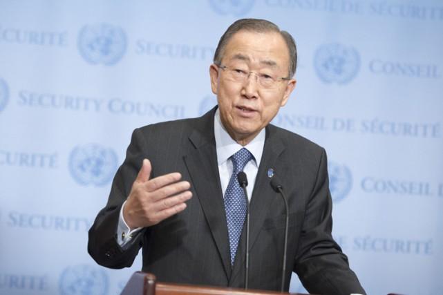 Le secrétaire général de l'ONU,Ban Ki-moon.... (PHOTO ARCHIVES AFP)