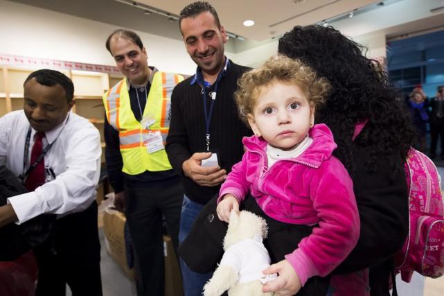 Des réfugiés syriens sont arrivés à Toronto et... (Photo La Presse Canadienne)