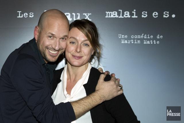Martin Matte et Julie Le Breton... (La Presse, Robert Skinner)