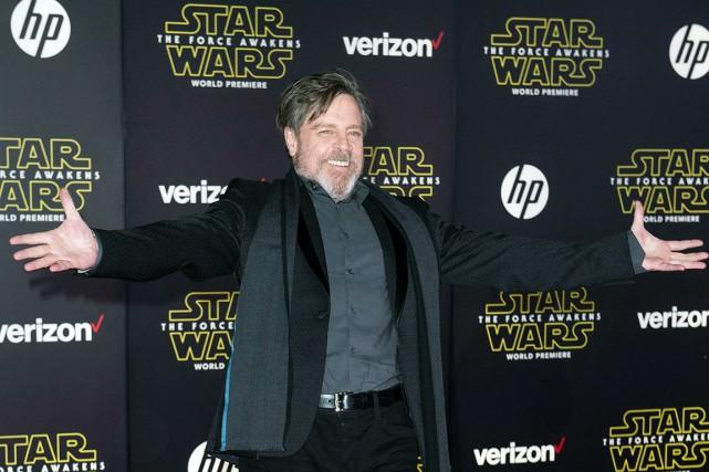 L'interprète de Luke Skywalker, Mark Hamill (photo), assistait... (AFP, Valérie Macon)