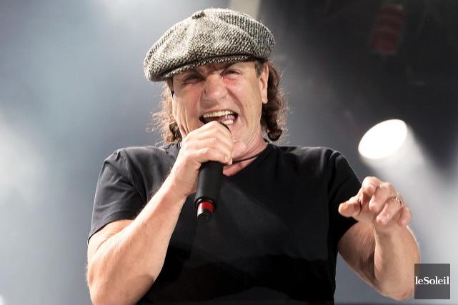 Le chanteur d'AC/DC,Brian Johnson, aécarté l'idée d'une retraite... (Photothèque Le Soleil)