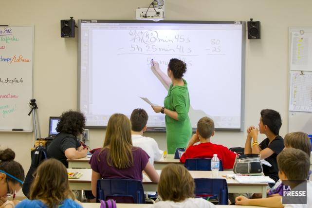 Les quelque 3500 enseignants du SEE devraient se... (Archives, La Presse)