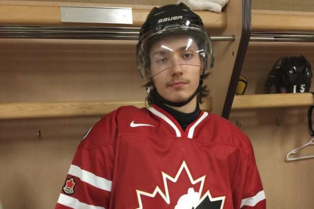Édouard Michaud dans son uniforme d'Équipe Canada Est.... (Fournie par Hockey Canada)