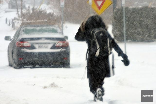 L'hiver s'est installé (Photo Le Quotidien, Jeannot Lévesque)