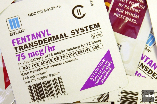 Le fentanyl est un opioïde 40 fois plus... (Photothèque Le Soleil, Associated Press)