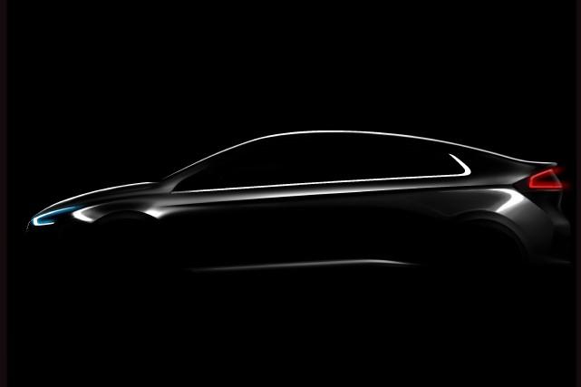 Une esquisse de la Hyundai IONIQ.... (Illustration fournie par Hyundai)