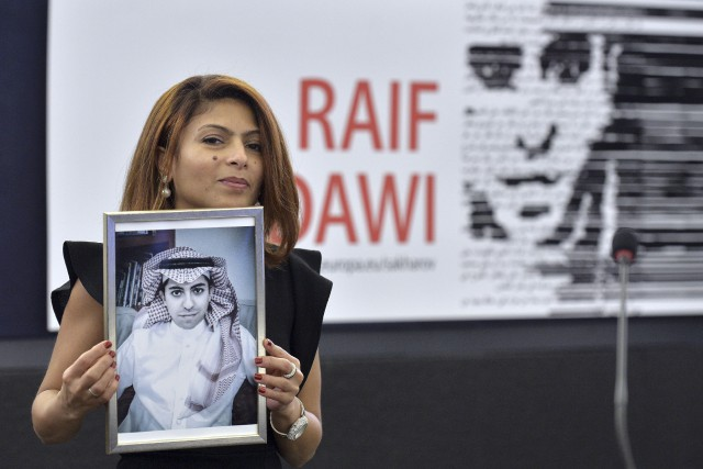 Ensaf Haidar a souligné que son mari n'était... (Agence France-Presse, Patrick Hertzog)