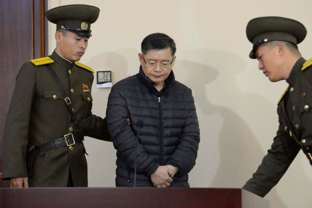 Hyeon Soo Lim, pasteur d'origine sud-coréenne officiant à... (PHOTO AFP/KCNA)