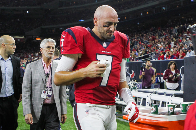 Le quart des Texans de Houston Brian Hoyer... (Photo Troy Taormina, USA Today)