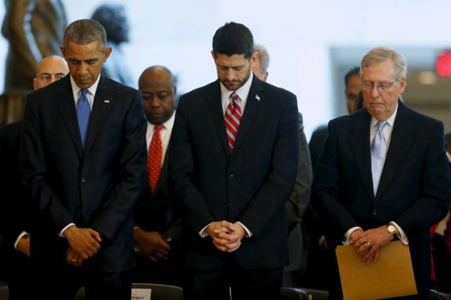 Barack Obama, leprésident républicain de la Chambre des... (PHOTO REUTERS)