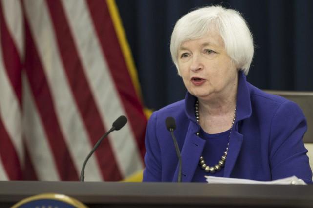 La présidente de la Réserve fédérale (Fed) JanetYellen... (PHOTO SAUL LOEB, AFP)