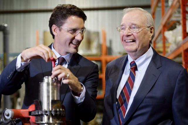 Justin Trudeau et Paul Martin lors d'un événement... (PHOTO PC)