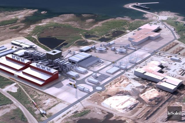 Maquette du projet d'usine de FerroAtlantica à Port-Cartier,... (Photothèque Le Soleil)