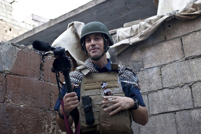James Foley à Alep, en Syrie, en 2012.... (PHOTO ARCHIVES AP)