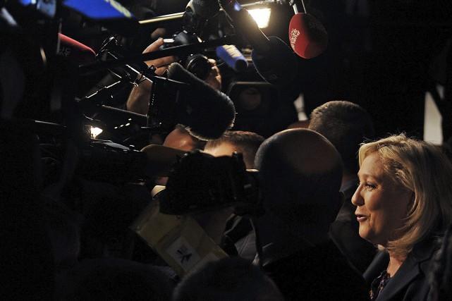 Marine LePen est visée par une enquête, après... (Agence France-Presse)